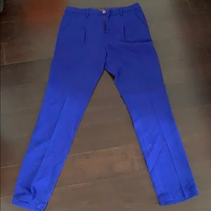 Madewell Buckley Tailors Colorwheel Blue Trousers